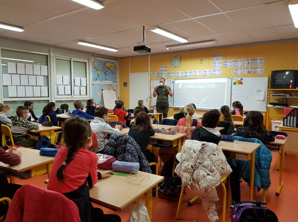 Photo intervention école hénon 11/2020