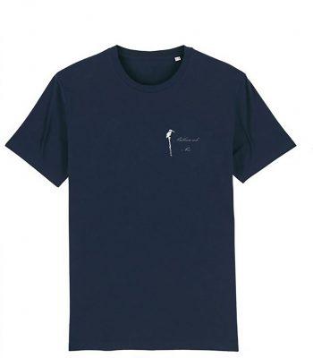 Tee-shirt, couleur marine. Impression côté cœur du logo Bilbaroude Pix uniquement. Impression en option dans le dos